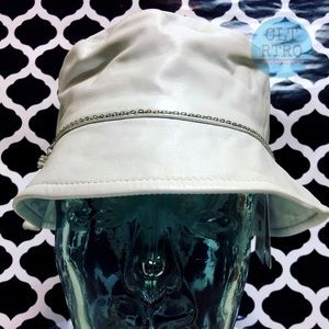 c0a48fce Wilsons Leather Accessories | White Leather Bucket Kangol Hat | Poshmark